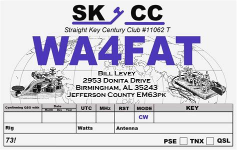 collection  qsl card template