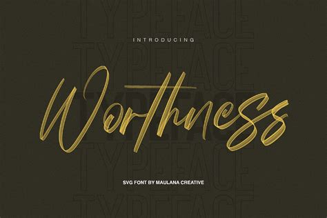 Archive of freely downloadable fonts. Worthness SVG Brush Font Free Sans   Stunning Script Fonts ...