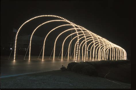 commercial lighted arches  drive  parks  city