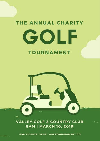customize  golf poster templates  canva