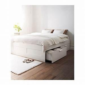Lit Ikea Rangement : brimnes cadre lit avec rangement 160x200 cm ikea ~ Teatrodelosmanantiales.com Idées de Décoration