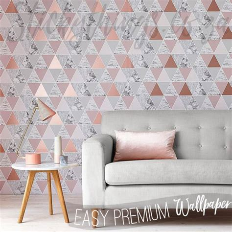 triangle rose gold wallpaper rose gold reflections
