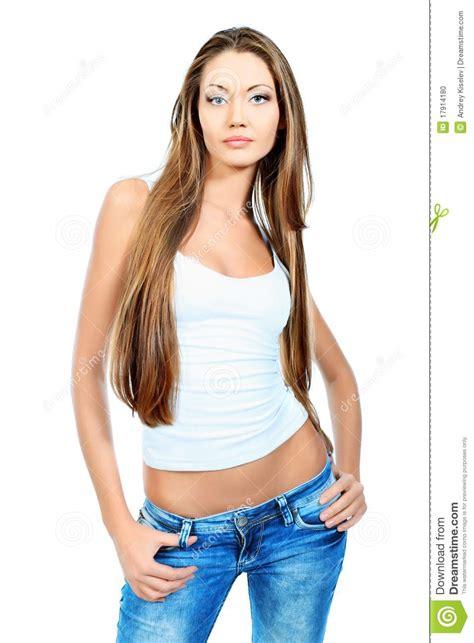 slim girl stock photo image