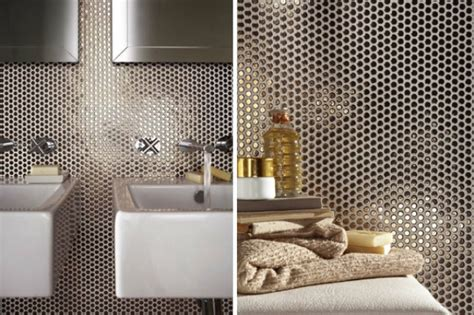 hottest decor trend  metallic tile decor ideas