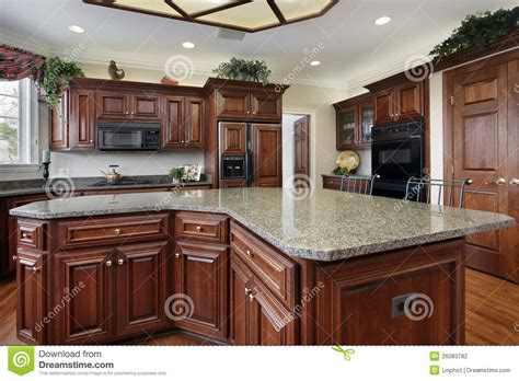 centre islands for kitchens kitchen with large center island stock photography image 5170