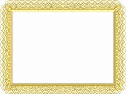 Certificate Border Award Template Borders Printable Professional