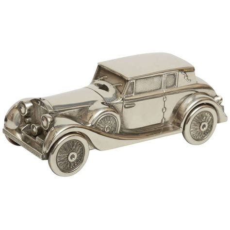 plated rolls royce silver plate rolls royce money box piggy bank at 1stdibs