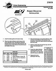 Oem Fisher Rubber Deflector Kit 21619 For Ez