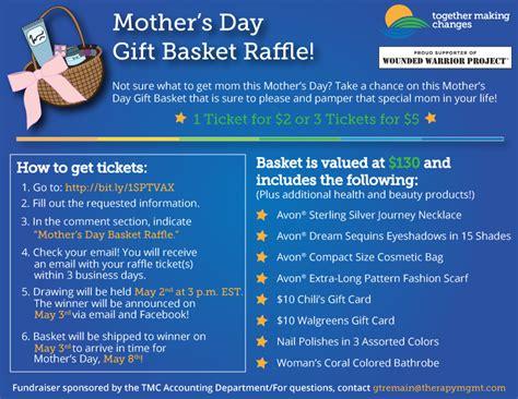 making  mothers day gift basket raffle
