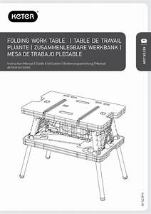 Keter Folding Work Table Ex User Manual