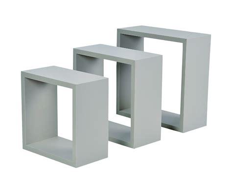 bureau contemporain pas cher set lot 3 etagères gigognes forme cube support mural