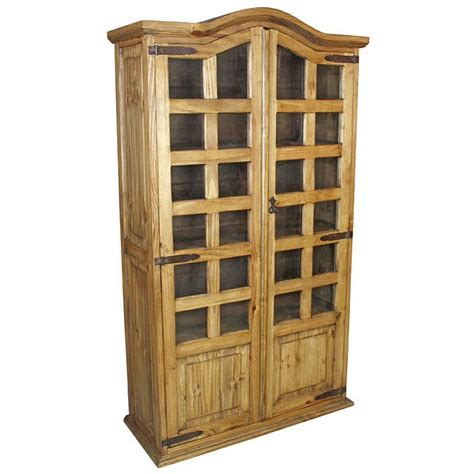 Mexican Bookcase by Mexican Pine Bookcase Cabinet 2 Door Mexican Pine