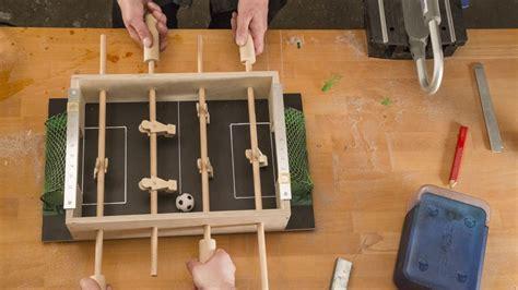 babyfoot de table fabriquer un mini baby foot de table avec dremel