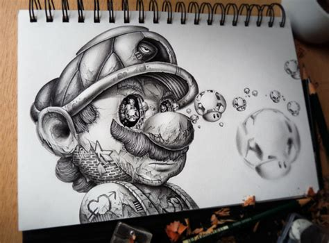 eerie drawings  undead disney characters