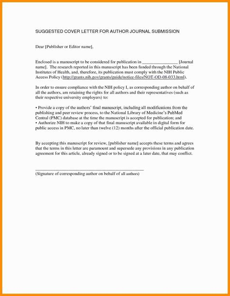 Cover Letter For Publication by 004 Cover Letter For Article Publication Research Paper
