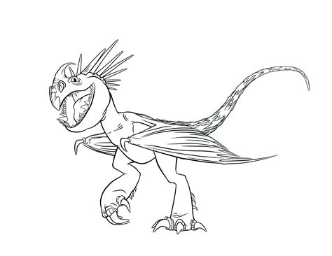 train  dragon coloring pages    print