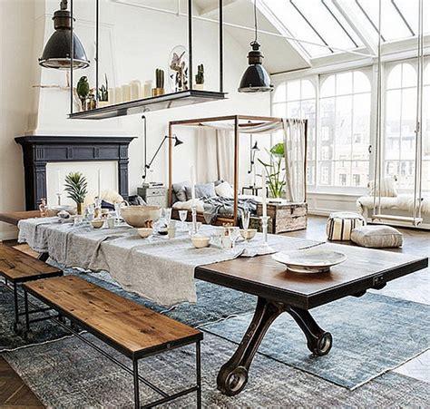 industrial interiors home decor interior design decoration home decor loft modern