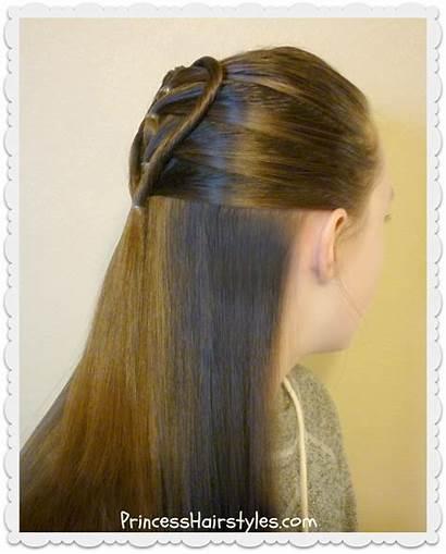 Heart Hairstyle Elastic Braid Twist Tutorial Hairstyles