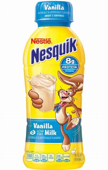 Vanilla Milk Nesquick Nesquik Flavored Fat Low