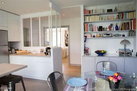 côté maison cuisine epure et design pour une cuisine verrière à neuilly