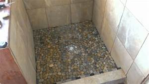 Pebble Tile Shower Floor Design — John Robinson House