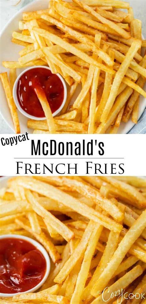 McDonald's French Fries - Copycat Recipe   Homemade fries, Restaurant recipes, Recipes