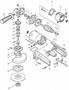 9005bz Makita Angle Grinder Parts