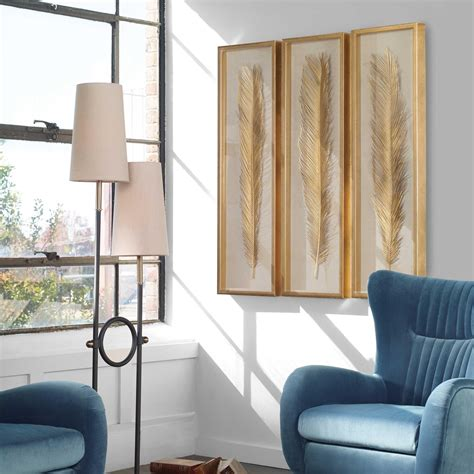 Low price guarantee, fast shipping & free. Uttermost Alternative Wall Decor Palma Gold Leaf Shadow ...