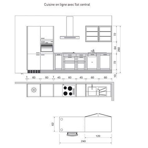 plan type de cuisine 17 best images about mesures importantes design interieur