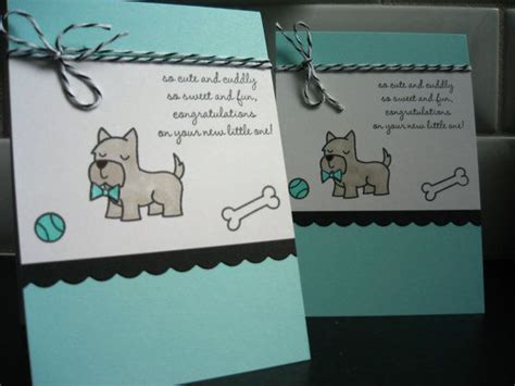 Welcome New Puppy Card New Dog Card by apaperaffaire on