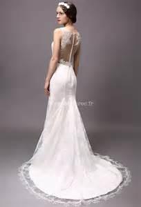 robe mariage dentelle robe de mariée avec manches fermeture boutons dos dentelle