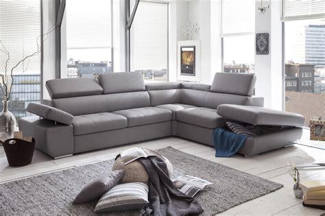 canapé d 39 angle simili cuir gris canapé idées de