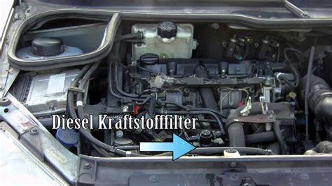 wechseln sie alle filter diesel kraftstofffilter