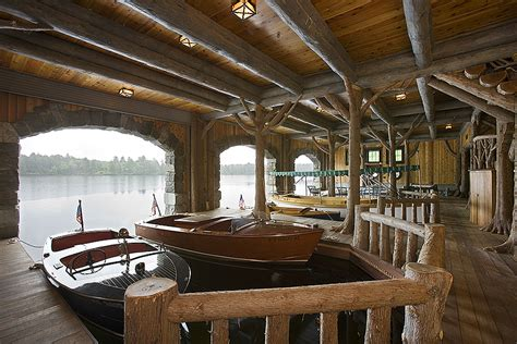 Living On A Boat In Minnesota by Adirondack Custom Handcrafted Log Homes By Maple Island