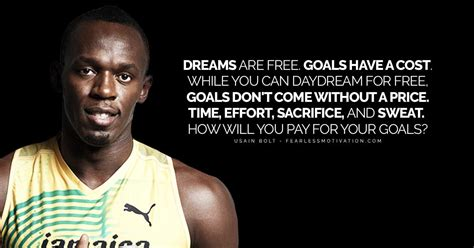 powerful usain bolt quotes tracing  fastest mans