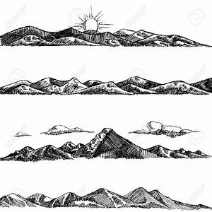 mountains drawing - Google Search | Block Printing ...