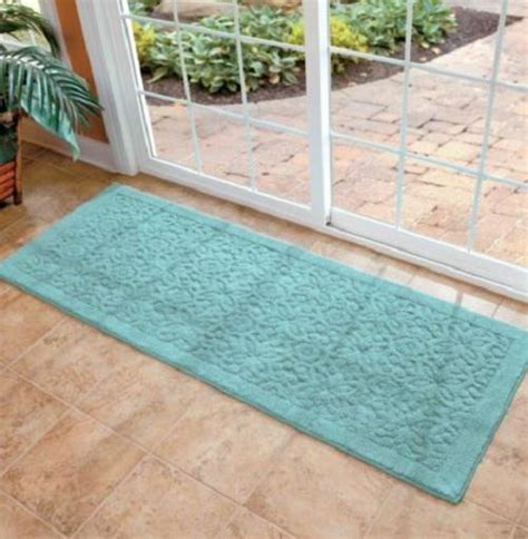 washable throw rugs non slip 100 cotton washable scroll 26x72 runner area rug