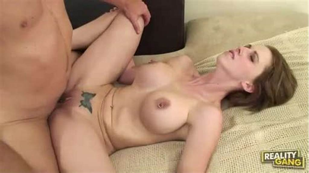 #Short #Haired #Brunette #With #Pierced #Nipples #Has #Flexible