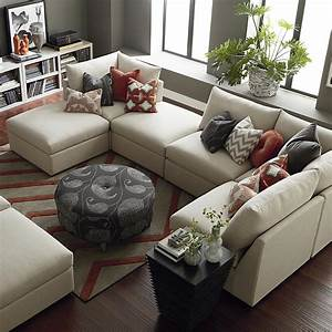 Contemporary u shaped sectional bassett home furnishings for U shaped sectional sofa for sale