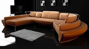 Ledercouch U Form : rundsofa leder wohnlandschaft halb rund sofa couch u form chaiselongue ledersofa ledercouch ~ Indierocktalk.com Haus und Dekorationen