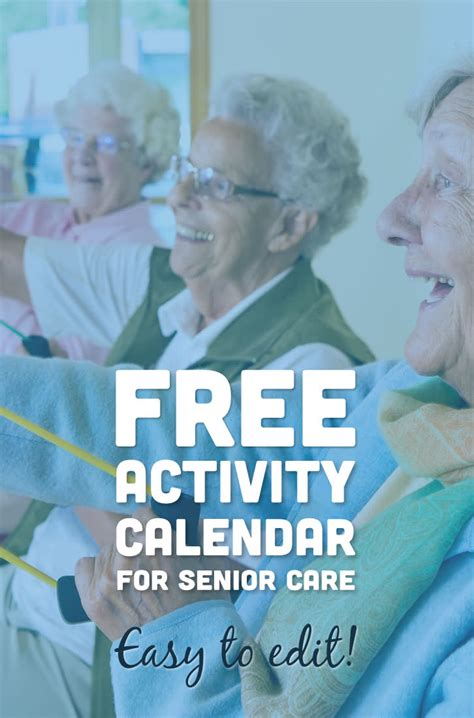 activity calendar  seniors