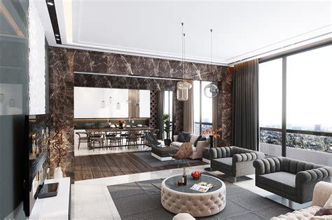 Modern Kitchen Designs With Island - inspiration ultra luxury apartment design