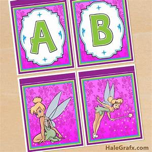 free printable tinkerbell alphabet and birthday banner pack With tinkerbell letters