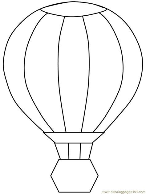 Air Balloon Template Air Balloon Color Page Coloring Home