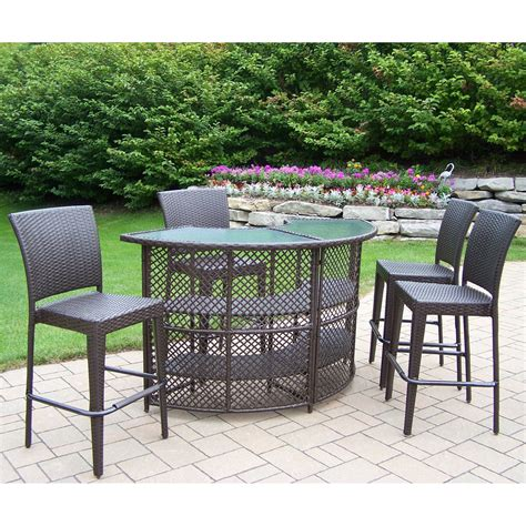 Outdoor Patio Sets On Sale by Oakland Living All Weather Wicker Half Patio Bar Set