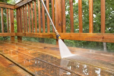 cleaning wood deck with how to power wash a wood deck