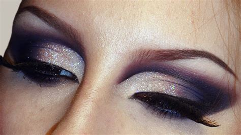 sultry smokey glitter cut crease makeup tutorial bridal wedding    youtube