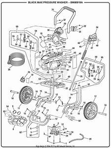 Homelite Bm80919a 2700 Psi Pressure Washer Parts Diagram For General Assembly