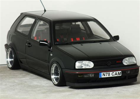 volkswagen golf modified 1 18 quot mk3 volkswagen golf gti anniversary quot black