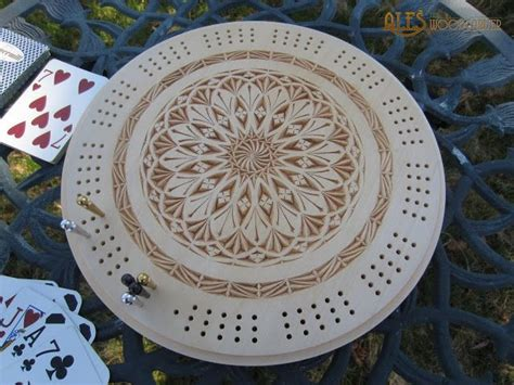 cribbage board chip carving  ales janosik